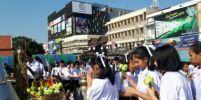 นักเรียนม.4เตรียมอุดมน้อมเกล้าฯโคราช กว่า150คนไหว้ย่าโมต้อนรับเปิดเทอมใหม่