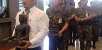 อัญเชิญพระพุทธรูปประจำกระทรวงมหาดไทยกลับมา หลังจากที่มีรัฐมนตรีบางคนที่ไม่นับถือพุทธเอาออกไป