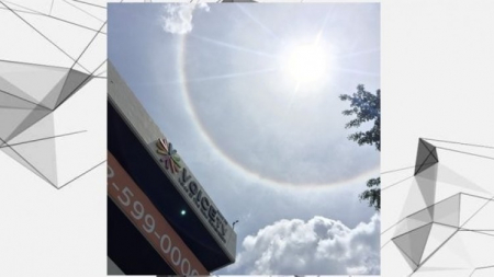 ปรากฏการณ์ 'ดวงอาทิตย์ทรงกลด' ทั่วฟ้ากรุงเทพฯ