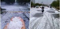 พายุลูกเห็บถล่มนิวเดลี เป็นครั้งแรกในรอบเกือบ 10 ปี