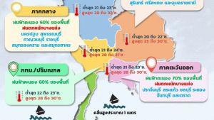 17-19 ต.ค. 64 ภาคเหนือและภาคตะวันออกเฉียงเหนือมีฝนน้อย