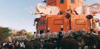 """สำนักสงฆ์ป่าอาเจียง นำช้างแสนรู้กว่า 20 เชือก ร่วมเวียนเทียน""""วันมาฆบูชา"""""""