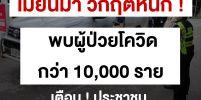 เมียนมามียอดผู้ติดเชื้อโควิด-19 สะสม 10,734 ราย ‼