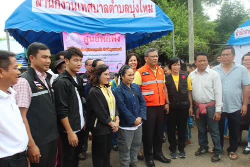 จ.อุบลราชธานี ร่วมกับ มูลนิธิเวิร์คพ้อยท์ มอบถุงยังชีพแก่ผู้ประสบภัยน้ำท่วม