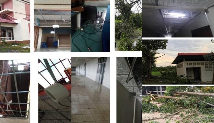 มจร. เปิดรับบริจาคบูรณะอาคารที่เสียหายจากพายุ'ปาบึก'