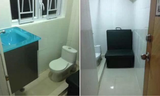 โฆษณาห้องพักในฮ่องกงขนาด 40 ตารางฟุต มีเตียงโซฟา-ห้องน้ำเท่านั้น ราคา12,000ต่อเดือน