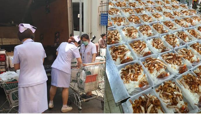 หมูทอดเจ๊จง อาสาส่งข้าวกล่อง วันละ 1,200 กล่อง ให้ทีมแพทย์