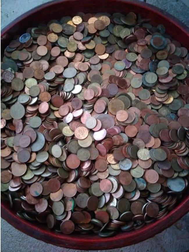 """บริจารเหรียญสตางค์ เพื่อบูรณะ """"พระเจ้าตนหลวงล้านเหรียญทันใจ"""""""