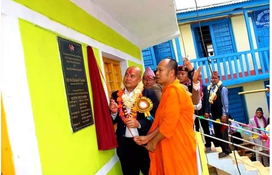 พระธรรมทูตไทยในเนปาล สร้างสัมพันธ์-สานสามัคคี มอบสื่อดีๆให้ นร.