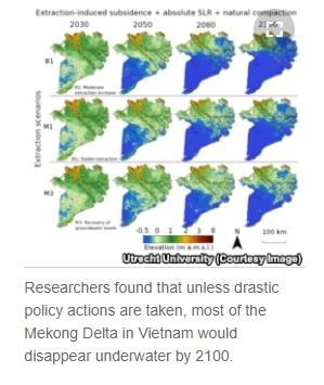 การสูบน้ำใต้ดินมาใช้มากเกินไป จะทำให้ลุ่มน้ำโขงจมน้ำในอีก 80 ปี