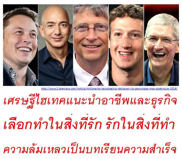คำแนะนำจากเศรษฐีไโฮเทคฯ อาชีพที่ดีที่สุด คือ ... !