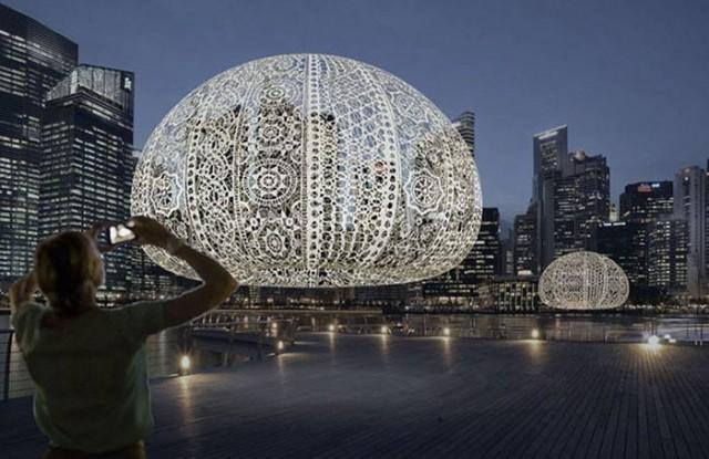 ลูกบอลโครเชต์ขนาดใหญ่ในสิงค์โปร์