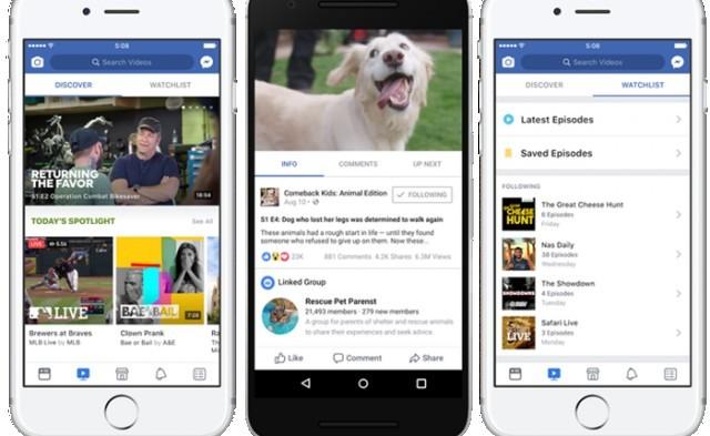 Facebook เปิดตัว 'Watch' บริการวีดีโอสตรีมมิ่ง รองรับเนื้อหาที่ผลิตโดยผู้ผลิตมืออาชีพ