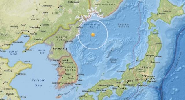 เกาหลีเหนือ!! แผ่นดินไหวขนาด 5.9 นอกชายฝั่ง