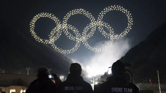 โดรน 1,218 ในพิธีเปิดโอลิมปิกฤดูหนาว 2018 ประเทศเกาหลีใต้
