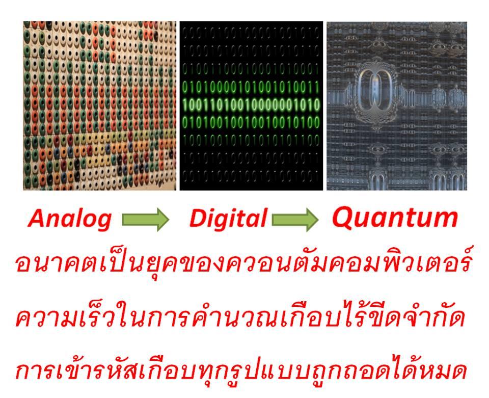 อนาคต คือ ยุคคอมพิวเตอร์ควอนตัม ทุกอย่างถอดรหัสได้หมด