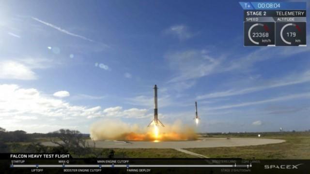 จรวดรุ่นใหม่ผงาดฟ้า ทรงพลังสุด – บรรทุกรถสปอร์ตหรูมุ่งหน้าไปดาวอังคาร!!!