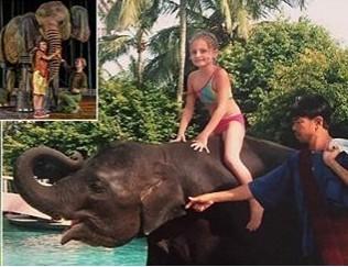 สาวน้อยชาวอังกฤษ ตามหาช้างที่ช่วยชีวิตจากสึนามิที่หาดภูเก็ตเมื่อ 12 ปีก่อน