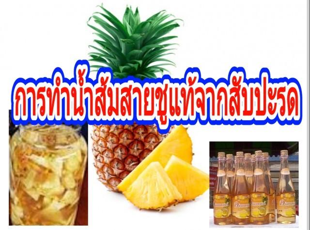 """วิธีทำ""""น้ำส้มสายชูแท้""""จากสับปะรดปลอดภัยไร้สารเคมี"""